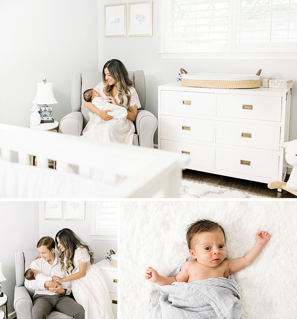Dallas Lifestyle Newborn Session I Family in Nursery