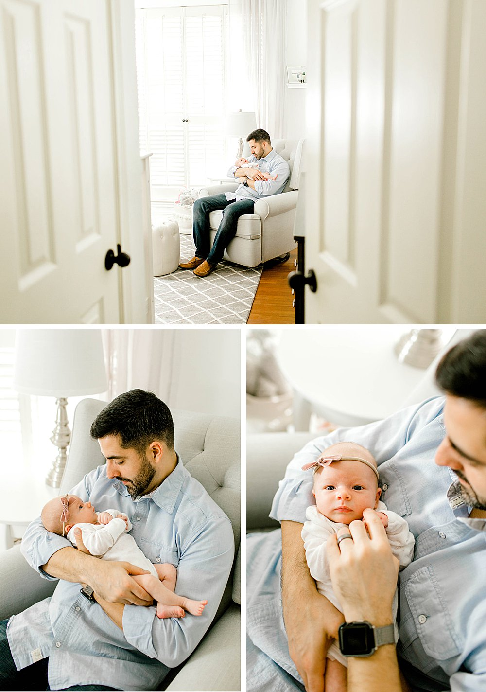Lifestyle Photography Session I dad in nursery with baby girl