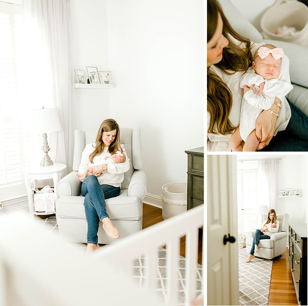 Lifestyle Photography Session I mom in nursery with baby girl