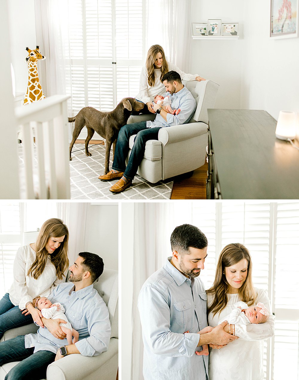 Parents in nursery with baby girl
