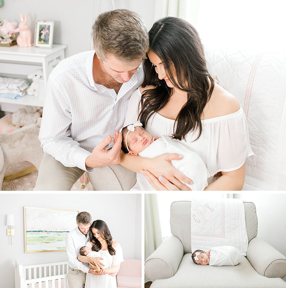 Pretty baby girl nursery I Lifestyle photos