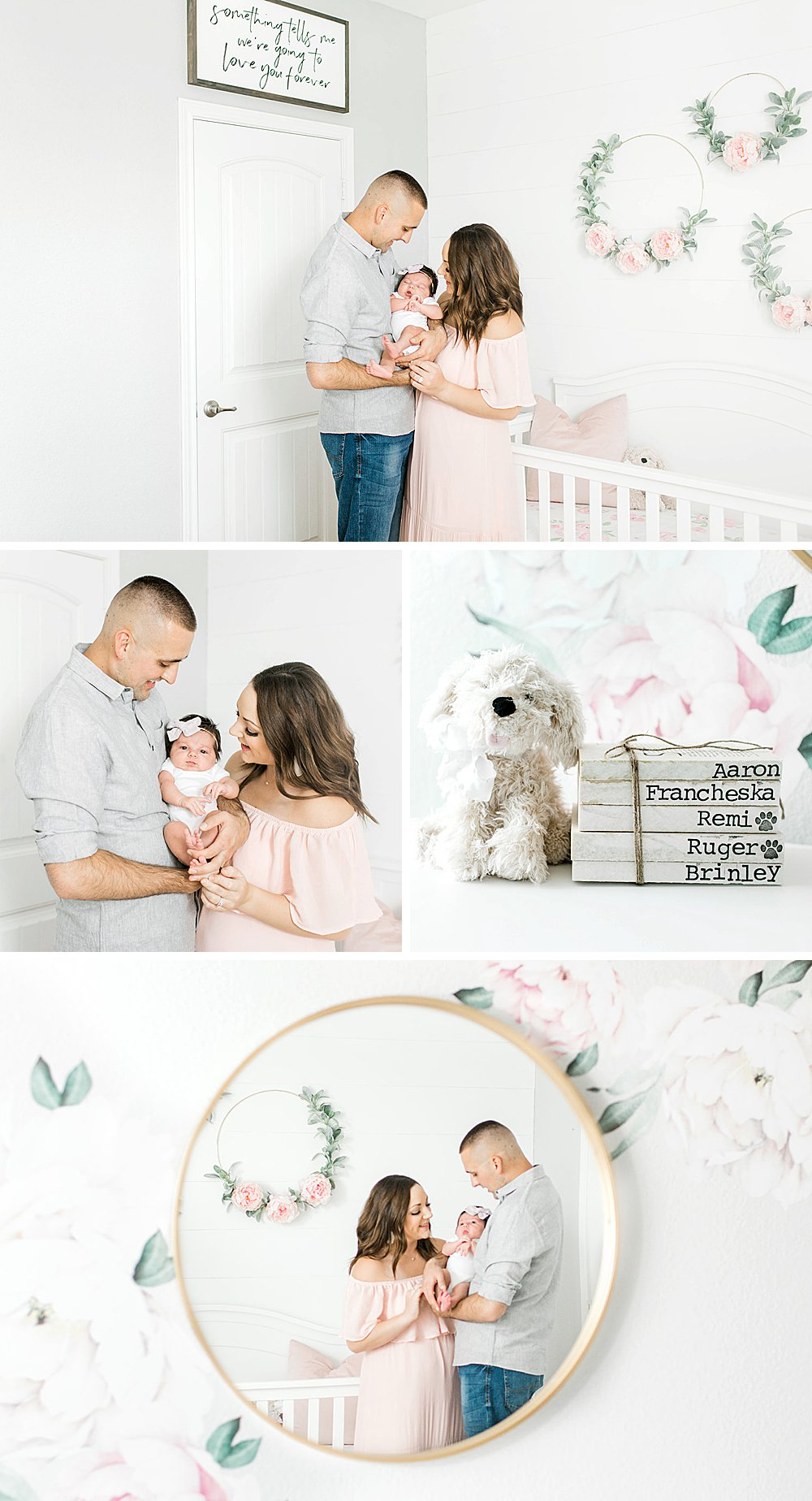 One month baby in nursery I Fort Worth Lifestyle Session