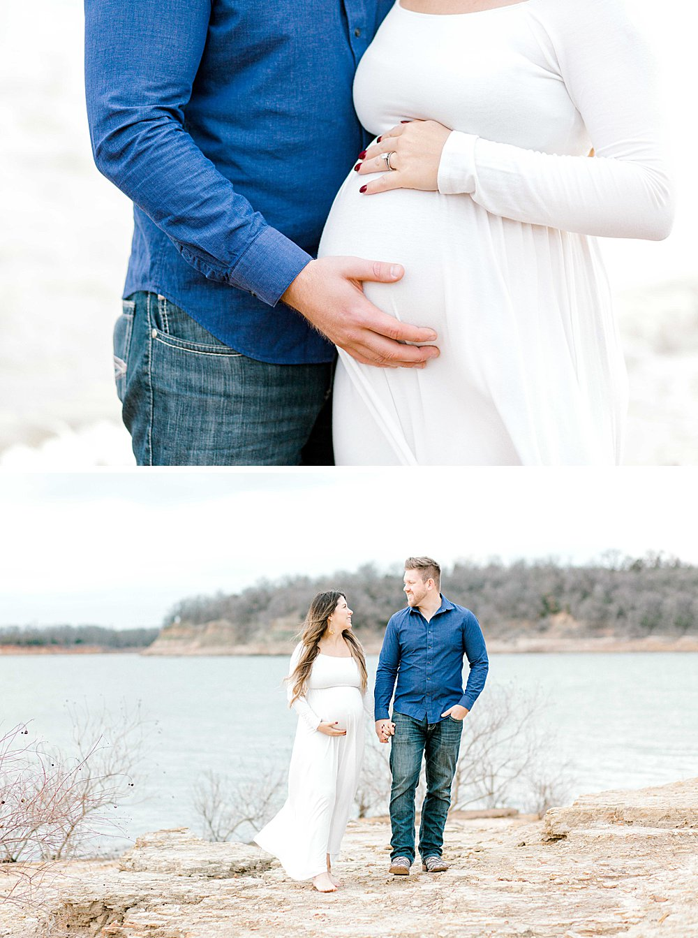 Maternity Couple at the Lake I Rockledge Park